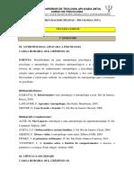 Ementário Das Disciplinas - Psicologia
