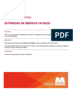 Estándar de Riesgos Fatales MMG