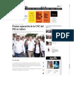 23-06-18 Frustran separación de la CNC del PRI en Jalisco
