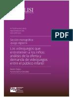 Uso y consumo videojuegos niños España