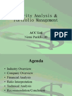 Fundamental n technical analysis of cement industry