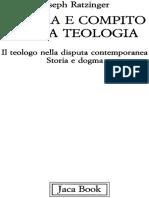 Natura e Compito Della Teologia - Joseph Ratzinger