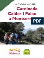 Fullet Caldes Montserrat 2018