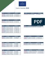Yearly Exams Calendar