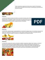 Vitaminas Que Tienen Las Frutas