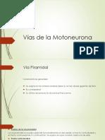 Vías de La Motoneurona