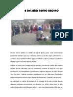 Informe Del Año Nuevo Andino