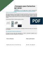 Instalación Firmware Para Cartuchos Samsung MLT