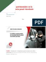 Los Delitos Patrimoniales en La Jurisprudencia Penal Vinculante Peruana