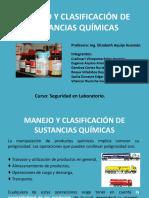 Manejo y Clasificación de Sustancias Químicas