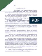 Counter Affidavit - Teofilo