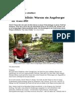 081017 Warum Ein Augsburger Im Wald Lebt Augsburger Allgemeine