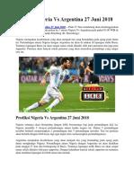 Prediksi Nigeria vs Argentina 27 Juni 2018
