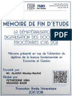 La dématérialisation et la digitalisation des documents et procédures (CAS DGI) par hiba fetheddine et badr mouhaid