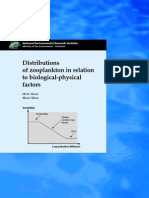Distribution of Zoo Plankton in Relation Biological Physical Factors