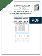 Analisis de edificio de gobierno ESIA U Teca