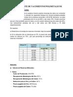 Ley de Corte de Yacimientos Polimetalicos