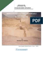 Minerales No Metálicos Para La Industria de La Construcción - Mercados Y Perspectivas (2003)