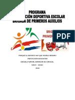 Programa Organización Brigada de Primeros Auxilios
