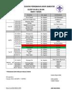 jadwal kegiatan kemah akhir tahun