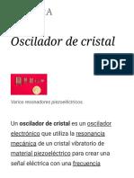 Oscilador de Cristal
