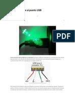 Conectar LEDs Al Puerto USB