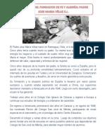 El Padre José María Vélaz Nació en Rancagua