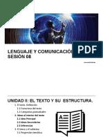 LyC 2018 10 Sesión 08 Ideas Al Interior Del Texto