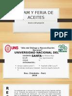 AVANCE DE PROYECTO DE EXTRACCION DE ACEITE DE SEMILLA DE MARACUYÁ