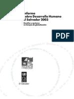 Informe de Desarrollo Humano 2003