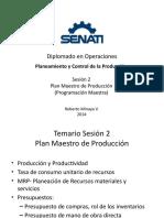 PCP - Sesión 2 - MRP y Plan Maestro