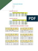 Matrices de Porticos 1 y c