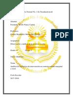 Análisis de La Práctica de Intervención en Contexto Urbano Marginal y Rural.