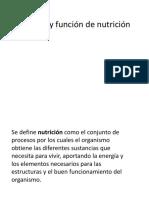 4)Sistema y Función de Nutrición
