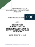 ESPECIFICACIONES ALCANTARILLADO CONEXIONES COTO 19.doc
