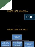 DASAR LUAR MALAYSIA