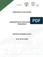 Lineamientos de Fortalecimiento Pedagógicos u.e.17