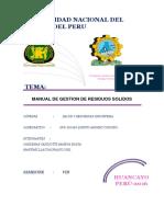 Manual de Procedimientos Para Recolectar Todos Los Residuos Docx