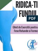 Ridica Ti Fundul Exercitii Pentru Fese in Gym