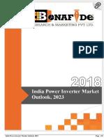 India Power Inverter Market Outlook, 2023