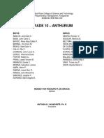 Official List (JHS) 2017