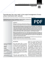 Transobturator Four Arms Mesh in the Surgical Management of Stress(2)
