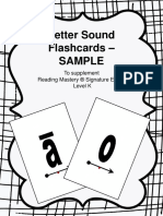 Letter Sound Flashcards Sample to Supplement Reading Mastery