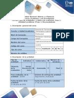 Guía de Actividades y Rúbrica de Evaluación - Paso 2 - Actividad Problema 2 Fase 1 Reconocimiento