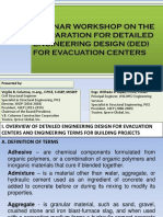 Detailed Engineering Design for Evacuation Center