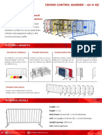 Crowd Control Barrier Catalog