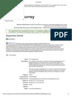 Surrey Registration Details