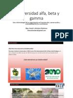 Biodiversidad Alfa, Beta y Gamma 2018-1