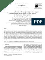 Applied Catalysis a- General Volume 288 Issue 1-2 2005 [Doi 10.1016_j.apcata.2005.04.033] Yoshihiko Ohishi; Tomonori Kawabata; Tetsuya Shishido; Ken Takak -- Mg–Fe–Al Mixed Oxides With Mesoporous Properties Prepared From Hyd