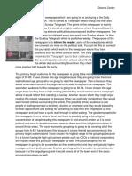 newspaper analysis 2